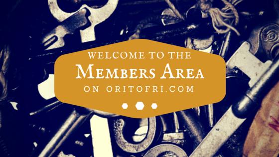 Welcome to the Member Area on OritOfri.com