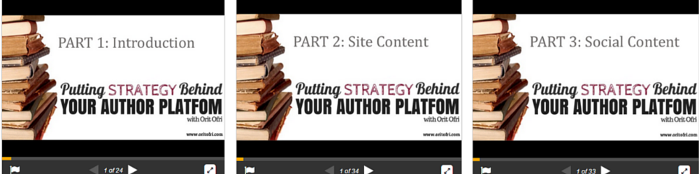 Cover for 3 SlideDecks Author Platform